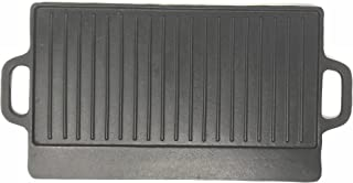 Aura Outdoor Products Rectangle Cast Iron Griddle - Perfect for Gas Grills and Stove Tops