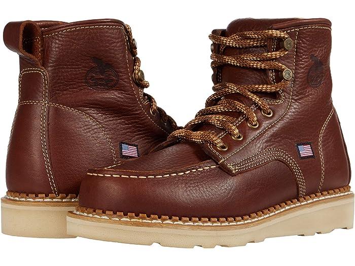 Georgia Boot USA Moc Toe Wedge | Zappos.com