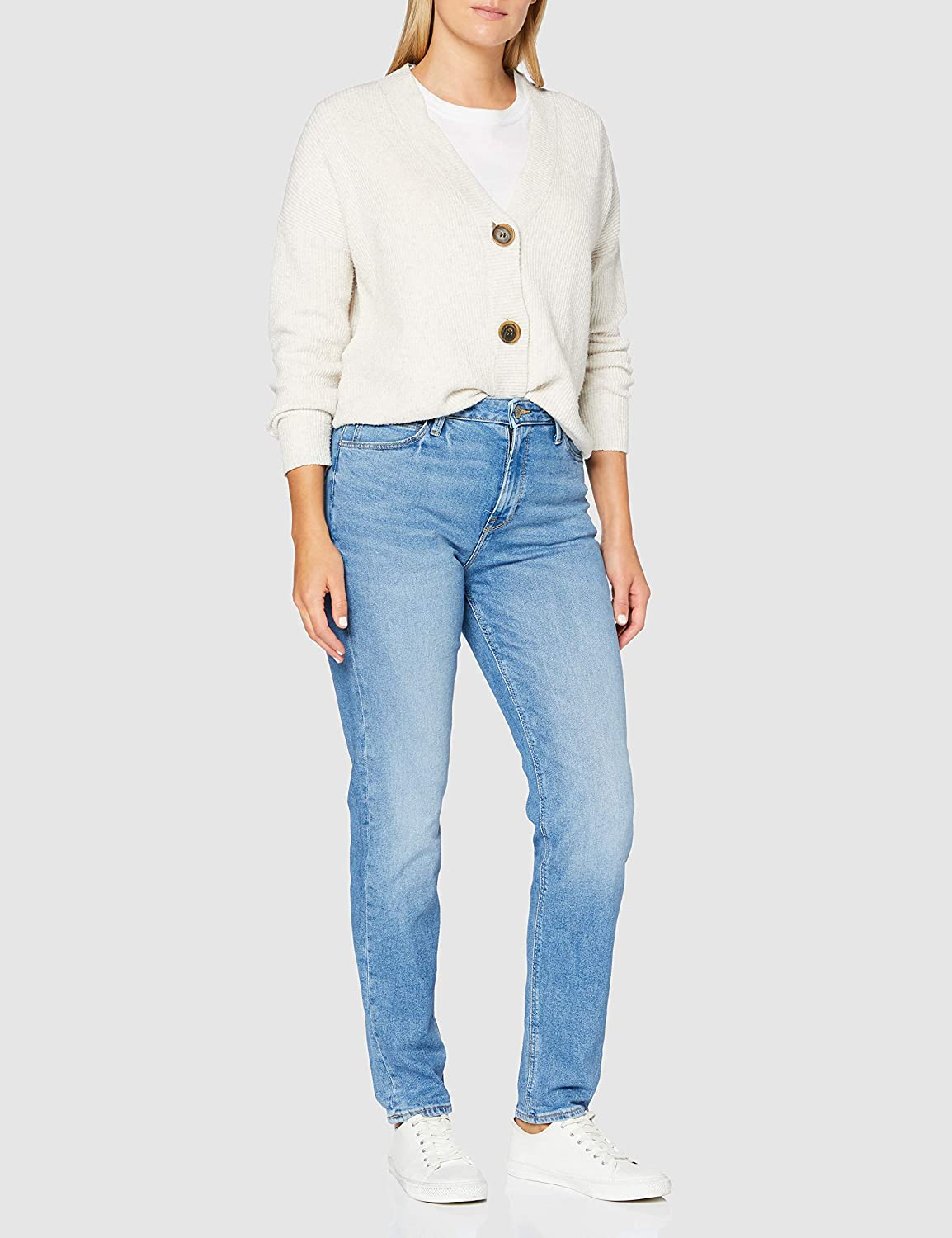 Lee Mom Straight Jeans Femme Light Luna