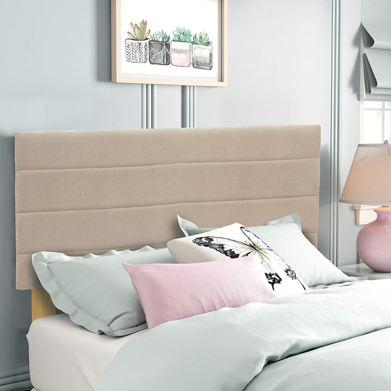 Zutan Limited price sale UpholsteredSuede Large-scale sale Fabric Tan Headboard Full