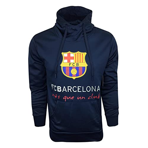 2606a4f988f FC Barcelona Hoodie for Kids and Adults, Official Barcelona Navy Pull Over  Hoodie, Hooded