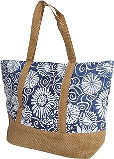 FLOSO Womens/Ladies Woven Floral Print Summer Handbag (UK Size: One Size) (Blue)