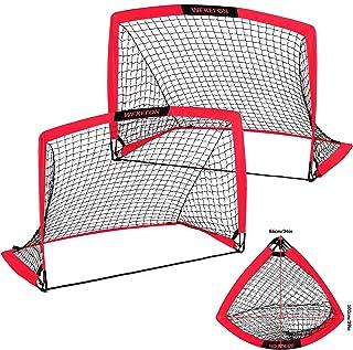 WEKEFON Soccer Goals Pop-Up Folding Soccer Net with Carry...