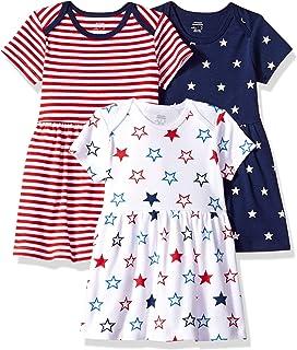 Amazon Essentials - Vestido para bebé (3 unidades)