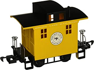 Bachmann Industries Li'L Big Haulers Caboose G-Scale Short Line Railroad with Yellow/Black Roof, Large