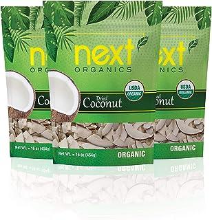 Next Organics Dried Coconut 16 oz Bag (Pack of 3)