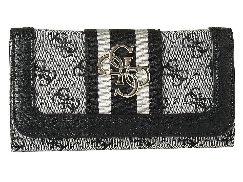 GUESS Vintage SLG Slim Clutch (Black) Wallet Handbags