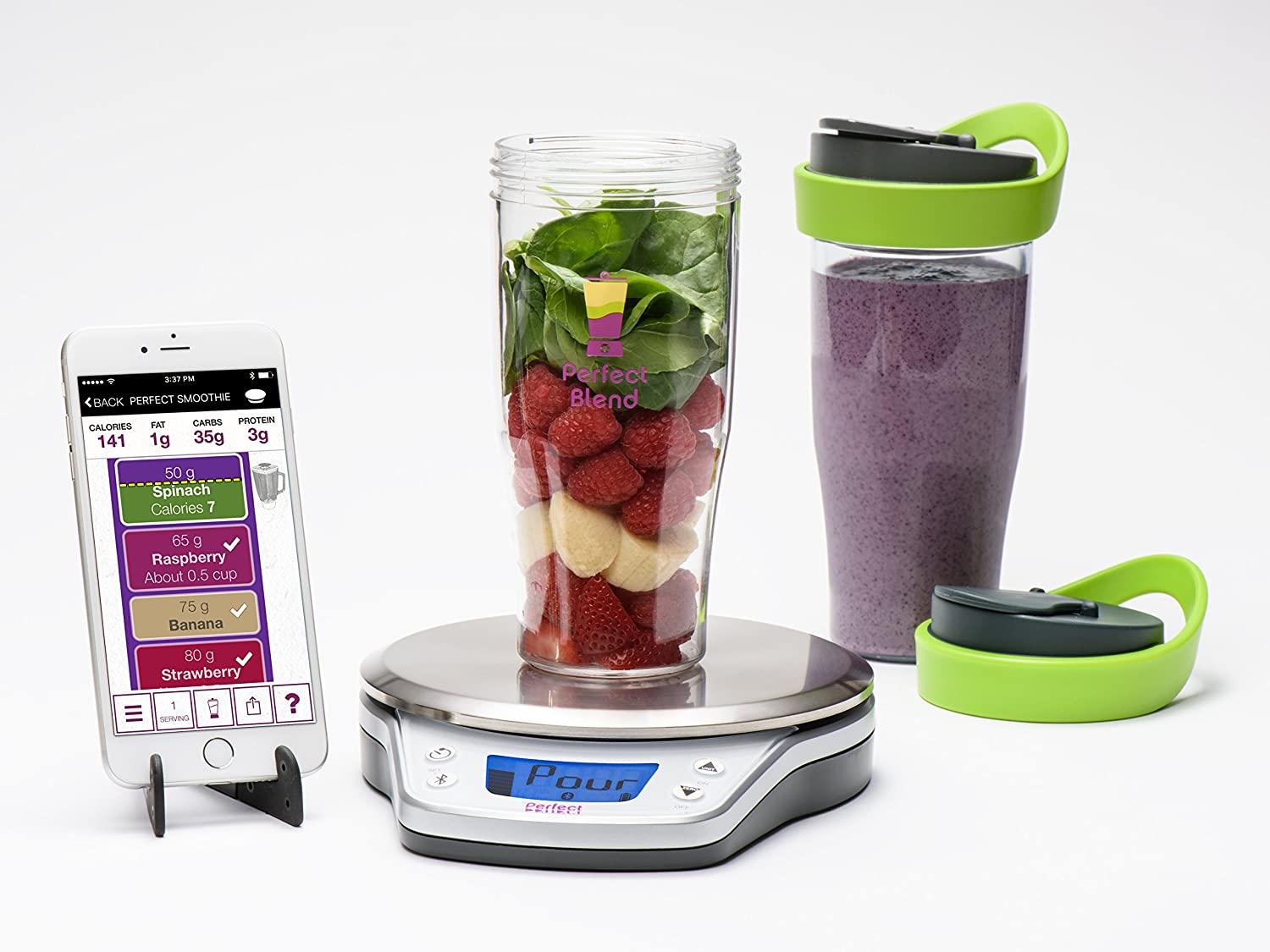 Perfect Blend PRO Smart Scale + App—Track nutrition and make delicious smoothies