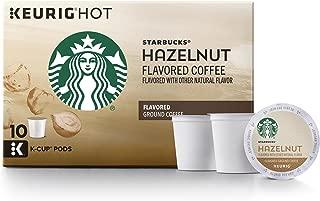 Starbucks Hazelnut Flavored Medium Roast Single Cup Coffee for Keurig Brewers, 10 Count