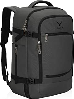 Hynes Eagle Travel Backpack 40L Flight Approved Carry on Backpack, Grey-2018