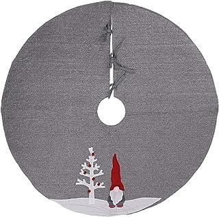 Seasonal Décor 120 سنتيمتر شجرة عيد الميلاد أسفل تنورة رمادي الكتان شجرة أسفل المئزر السجاد عيد الميلاد السنة الجديدة مسرح...