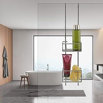 ShowerGem sin ventosas ni tornillos, a prueba de óxido, fácil de limpiar, como se ve en Dragons Den, estante de baño limpio y ordenado para todo, bandeja de ducha: Amazon.es: Bricolaje y