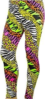 Men's 80's Heavy Metal Pants Neon Rainbow Animal Print