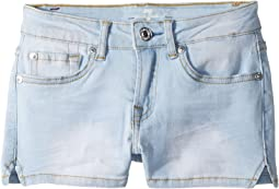 7 For All Mankind Kids Denim Shorts in Cloud Blue (Big Kids)