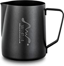 Milk Frothing Pitcher, Stainless Steel Creamer Non-Stick Teflon Frothing Pitcher 12 oz (350 ml), Matte Finish