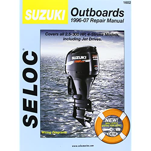 suzuki outboards 1996-07 repair manual: covers all 2 5-300 horsepower, 4