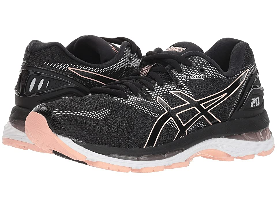 ASICS GEL-Nimbus(r) 20 (Black/Frosted Rose) Women