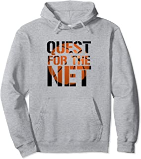 Quest for the Net basketball team logo Pullover Hoodie