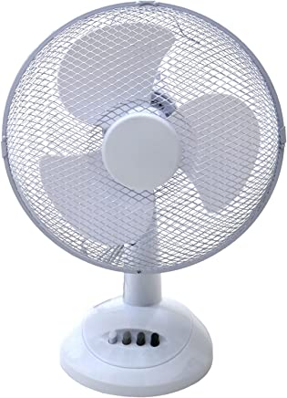 "Oypla Electrical 12"" 3 Speed Oscillating Electric Desk Home Office Fan"