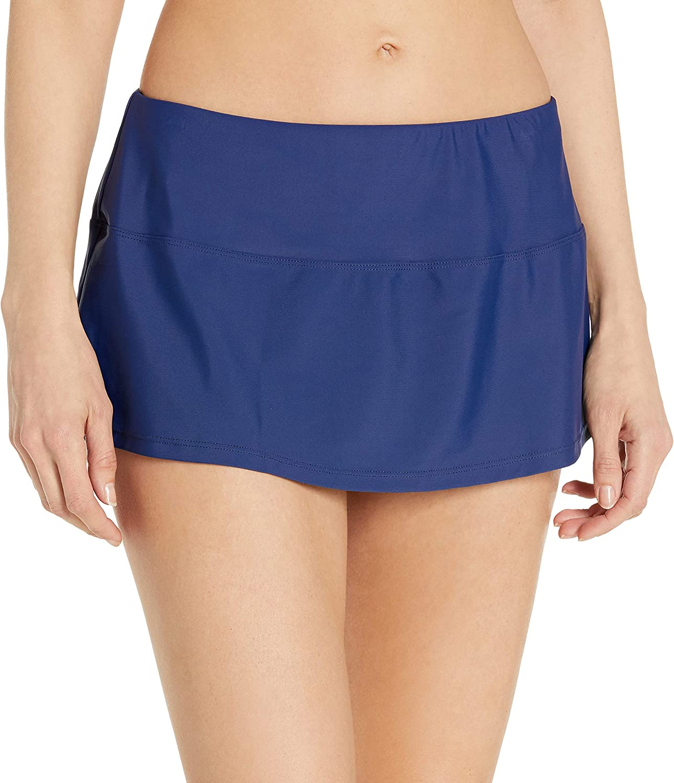 Chaps Women's Skirted Hipster Bikini Swimsuit Bottom