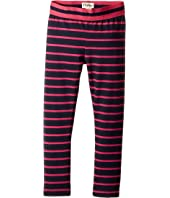 Hatley Kids - Navy and Fuchsia Stripes Printed Leggings (Toddler/Little Kids/Big Kids)