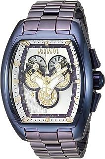Invicta Men's Reserve Quartz Watch with Stainless-Steel Strap, Purple, 24 (Model: 27057)
