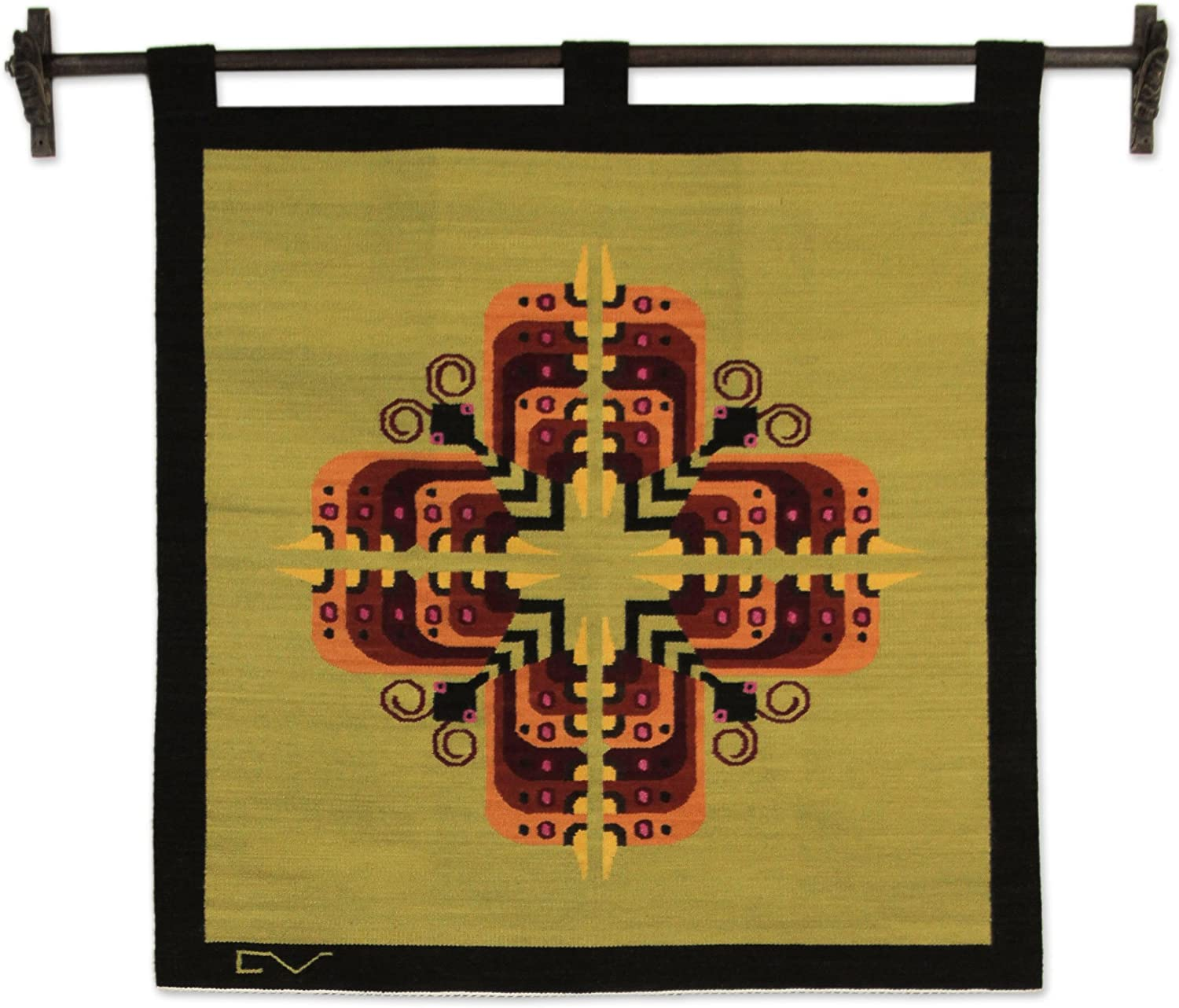 NOVICA Large Wool Butterflies Tapestry Multicolor supreme of Cross But Super popular specialty store