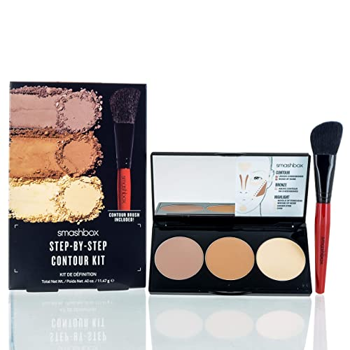 249dc8dd2 SmashBox Step By Step Contour Kit With Light Medium Brush, Brown, 4 Ounce