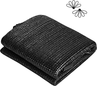 VIVOSUN 50%-60% Sunblock Shade Cloth UV Resistant Shade Net 6.5 ft x 10 ft Black Mesh with Ball Bungees for Greenhouse Swimming Pool Patio Yard