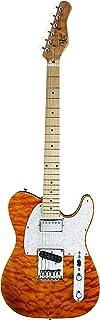 Michael Kelly 1957 - Guitarra eléctrica de cuerpo sólido, Ámbar Trans