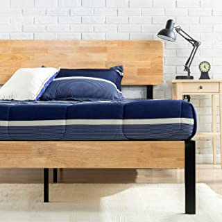 Zinus Olivia Metal and Wood Platform Bed with Wood Slat Support, Full