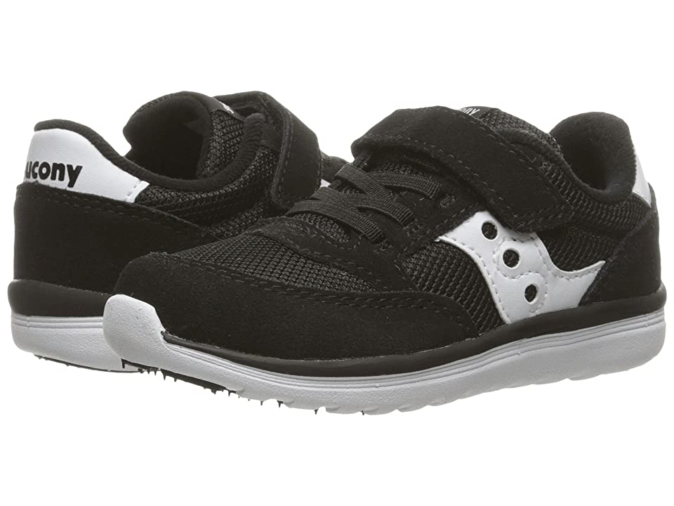 Saucony Kids Originals Jazz Lite (Toddler/Little Kid) (Black/White) Kids Shoes