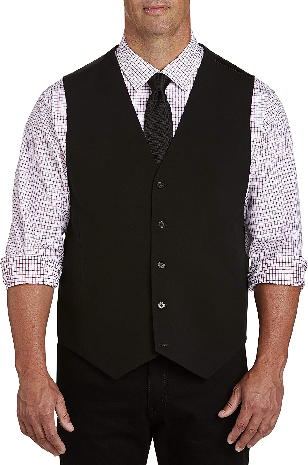 Synrgy by DXL Big and Tall Vest, Black
