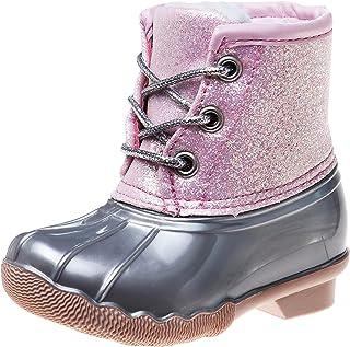 Josmo Girls' Rain Boots - Waterproof Duck Boots with Glitter