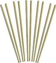 Helen's Asian Kitchen Stainless Steel Chopsticks, Set of 5-Pair, One Size, Gold