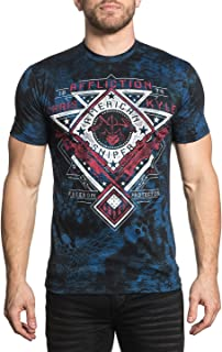 Affliction Men's CK Calibrated Tee Shirt Black/Blue