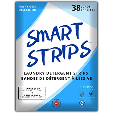 Smart Strips™ – Laundry Detergent Strips (38 Loads) - Hypoallergenic, Eco Friendly, Plastic-Free and Compostable Laundry Sheets. Ultra-Concentrated Eco Strips for Sensitive Skin- The Smart New Way To Do Laundry - (Fresh Breeze)