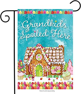 Briarwood Lane Grandkids Spoiled Here Garden Flag Christmas Gingerbread House 12.5