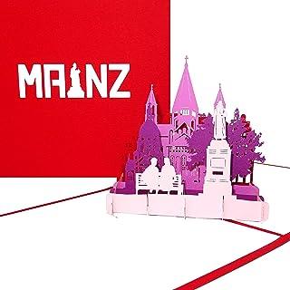 """Pop Up Karte """"Mainz - Panorama mit Mainzer Dom"""" - 3D Gru"""