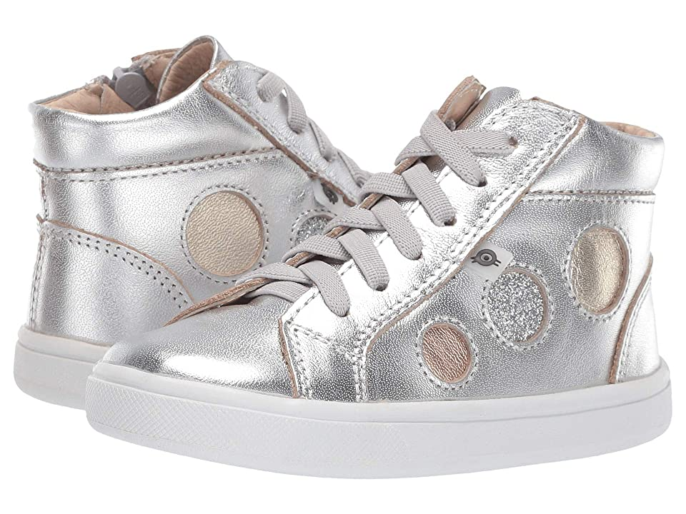 Old Soles Round About High Top (Toddler/Little Kid) (Silver/Gold/Glam Argent/Copper) Girl
