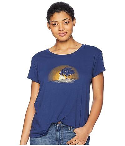 Life is Good Simplify Outside Breezy T-Shirt (Darkest Blue) Women