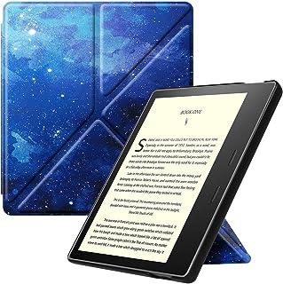 Fintie Kindle Oasis 第10世代 2019 Newモデル / 第9世代 2017 専用保護ケース 軽量 薄型 マグネット機能 オートスリープ機能 折り紙式スタンド PUレザー 保護カバー 開閉式カバー(柄 x 星空)