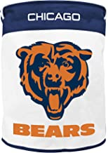 NFL Chicago Bears Canvas Laundry Basket with Braided Rope Handles
