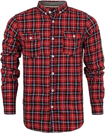 Camisa de leñador Brave Soul, para hombre, de algodón, franela, manga larga