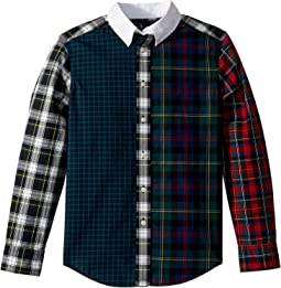Plaid Cotton Poplin Fun Shirt (Big Kids)