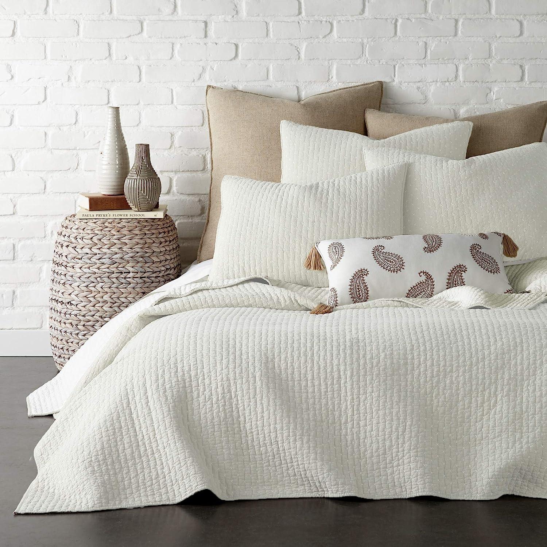 Amazon Com Levtex Home Cross Stitch Quilt Set 100 Cotton Twin 68x86in 1 Standard Shams 26x20in Cream Kitchen