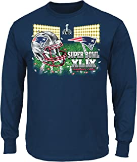 Majestic New England Patriots NFL Super Bowl XLIX On Our Way L/S Men's T-Shirt