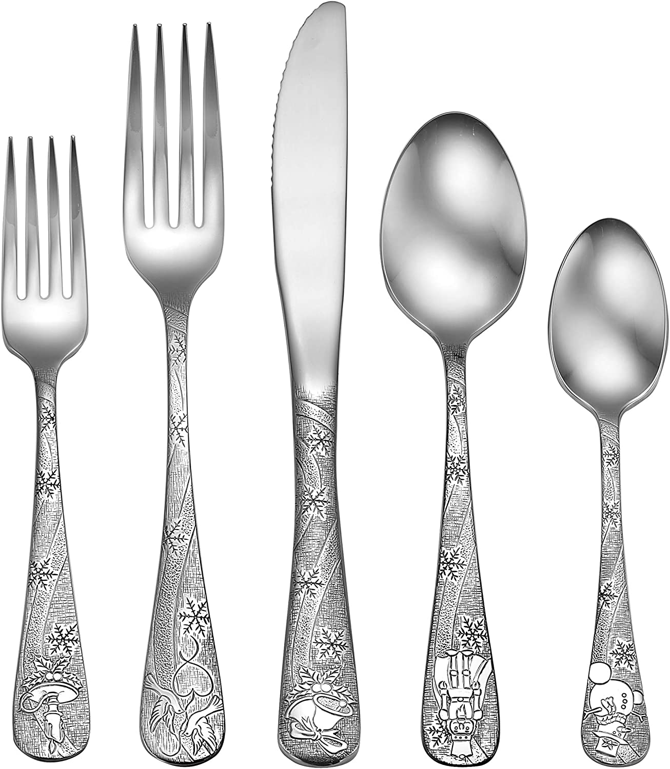 Dedication Liberty Tabletop Holidays 45pc Flatware Servin Set 8 For At the price Service