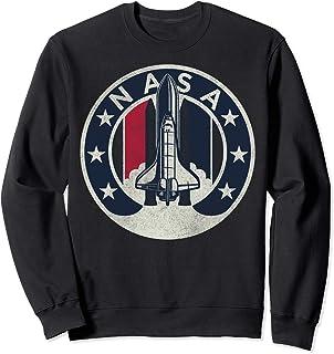 NASA Rocket Launch Star Circle Sweatshirt