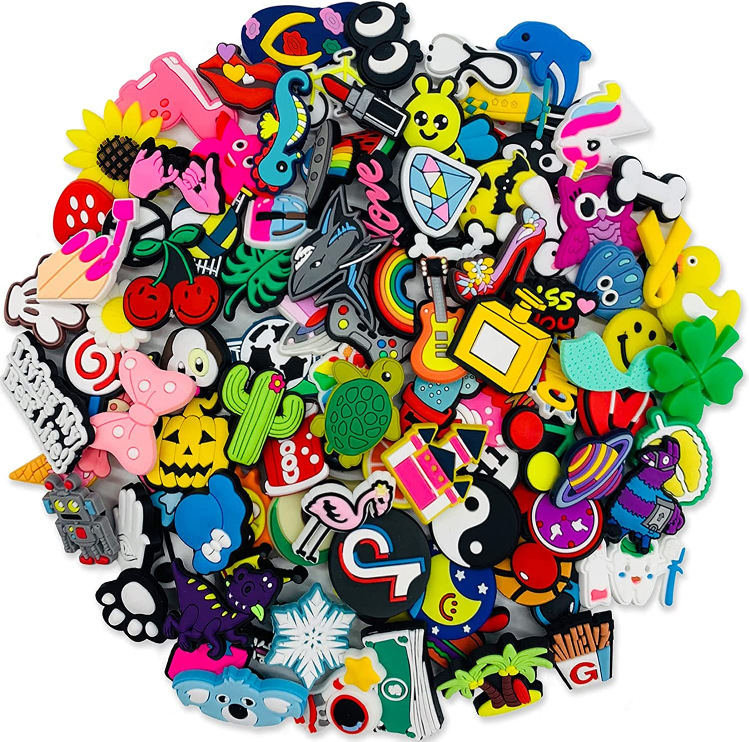 Year-end gift Kinear 100Pack Different Shoe Decoratio Charms Max 71% OFF Unisex-adult